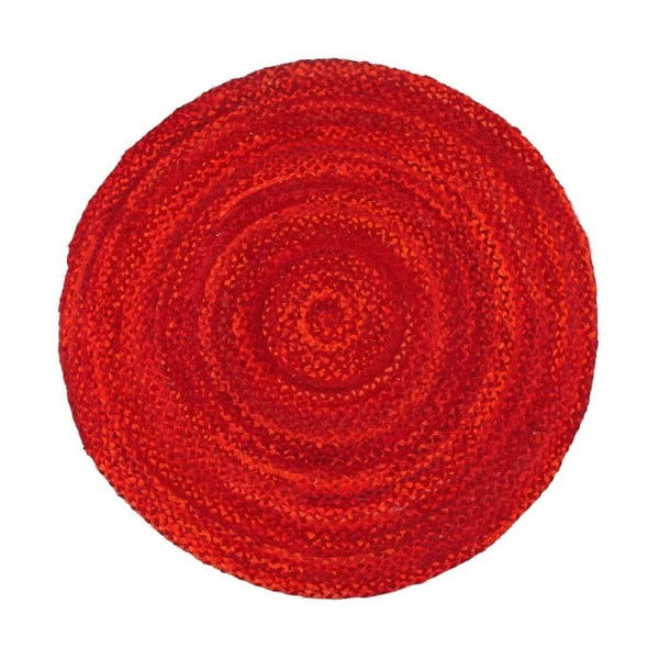Piros, kerek pamutszőnyeg, Ø 150 cm - Eco Rugs