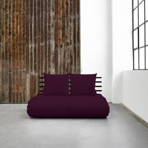 Shin Sano Black/Purple Plum kinyitható kanapé - Karup