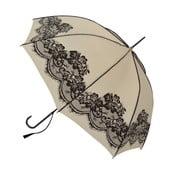 Vintage bézs színű esernyő, ⌀ 95 cm