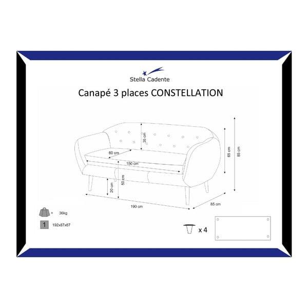 Constellation türkizkék háromszemélyes kanapé - Scandi by Stella Cadente Maison