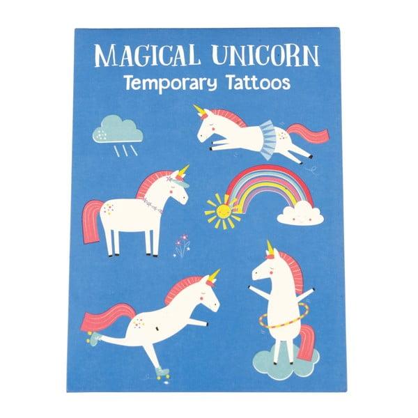Magical Unicorn lemosható tetoválás szett, 2 lapos - Rex London