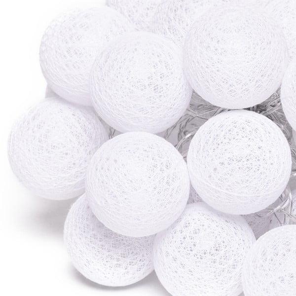 Fehér LED fényfüzér, 30 gömbbel - Luuka