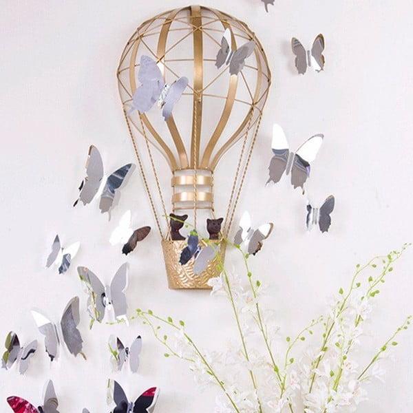 Mirror Butterflies 3D hatású 12 db-os falmatrica szett - Ambiance
