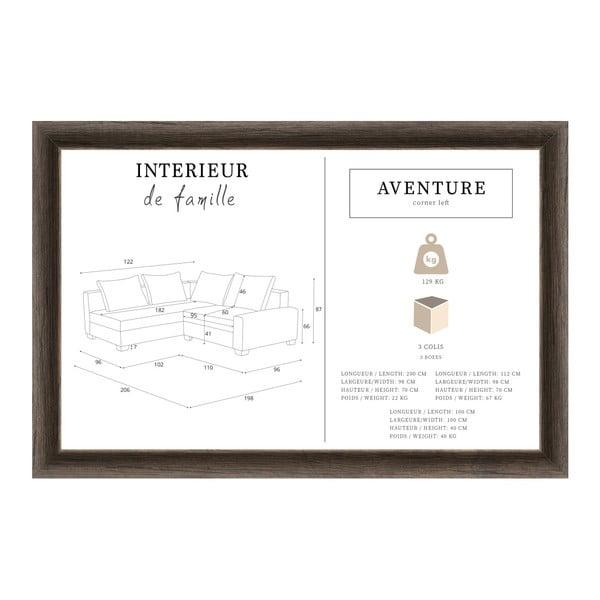 Aventure fekete kanapé, bal oldalas - Interieur De Famille Paris