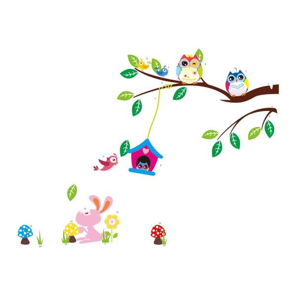 Owls and Bird Cage On Tree falmatrica szett - Ambiance