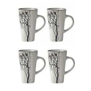 Tree 4 részes fehér eszpresszó csésze szett, 100 ml - KJ Collection