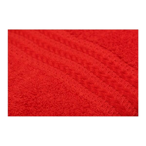 Rainbow 4 db-os piros pamut törölköző szett, 50 x 90 cm