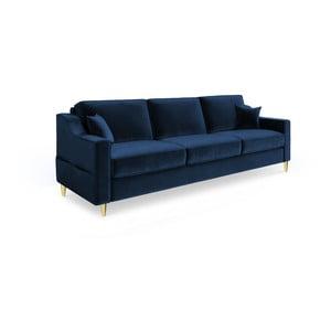 Marigold sötétkék háromszemélyes kinyitható kanapé - Mazzini Sofas