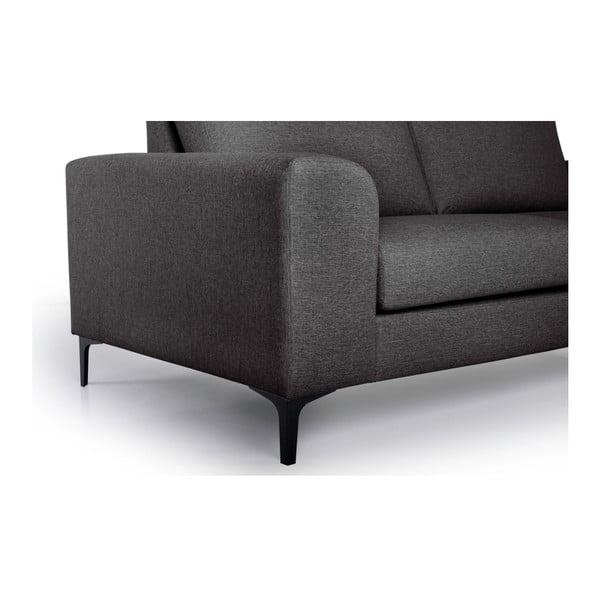 Henry antracitszürke kétszemélyes kanapé - Softnord