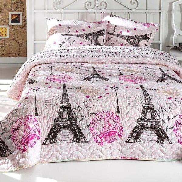 From Paris egyszemélyes pamutkeverék ágytakaró párnahuzattal, 160 x 220 cm