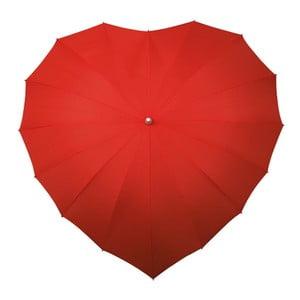 Heart piros szív alakú golf esernyő, ⌀ 107 cm