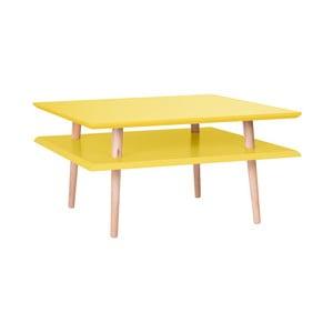 Square sárga dohányzóasztal, 68 x 68 cm - Ragaba