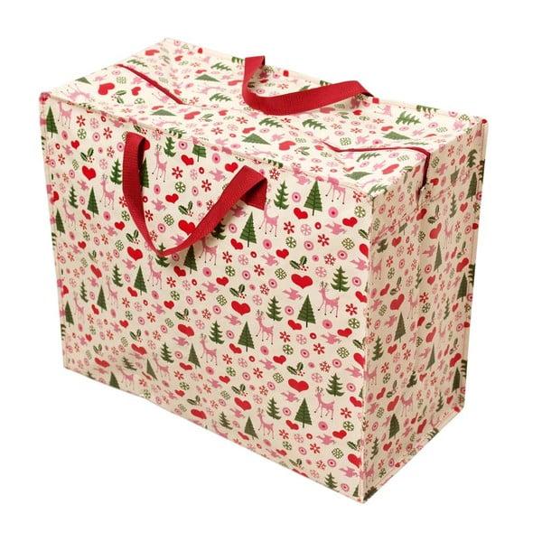 Christmas nagyméretű retró bevásárlótáska - Rex London
