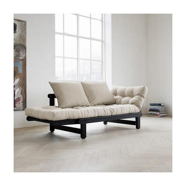Beat Black/Natural kihúzható kanapé - Karup