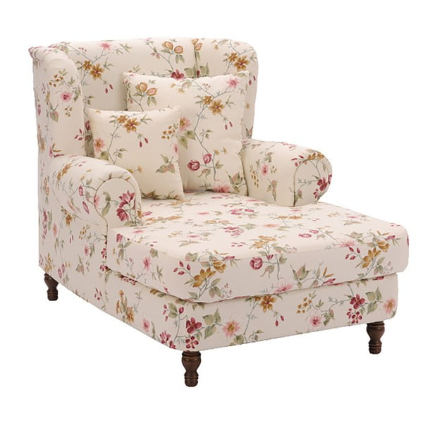 Mareille fehér virágmintás fotel - Max Winzer