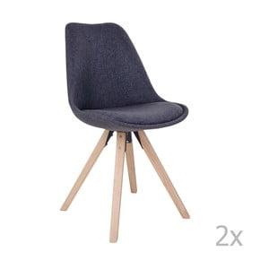 Bergen sötétszürke székkészlet, 2 darab - House Nordic