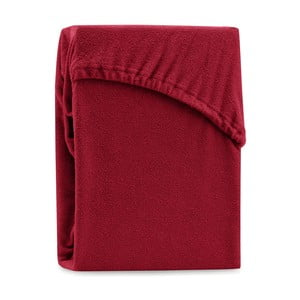 Ruby Dark Red sötét piros kétszemélyes gumis lepedő, 200-220 x 200 cm - AmeliaHome