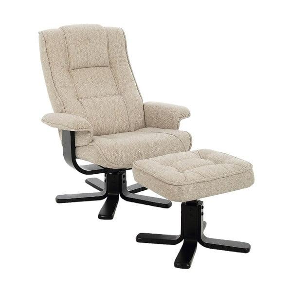 Limbo krémszínű állítható fotel lábtartóval - Actona