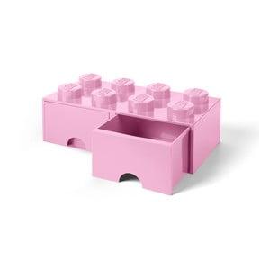 Světle růžový úložný box se dvěma šuplíky LEGO®