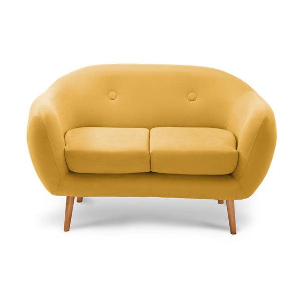 Sötétsárga kétszemélyes kanapé - Scandi by Stella Cadente Maison
