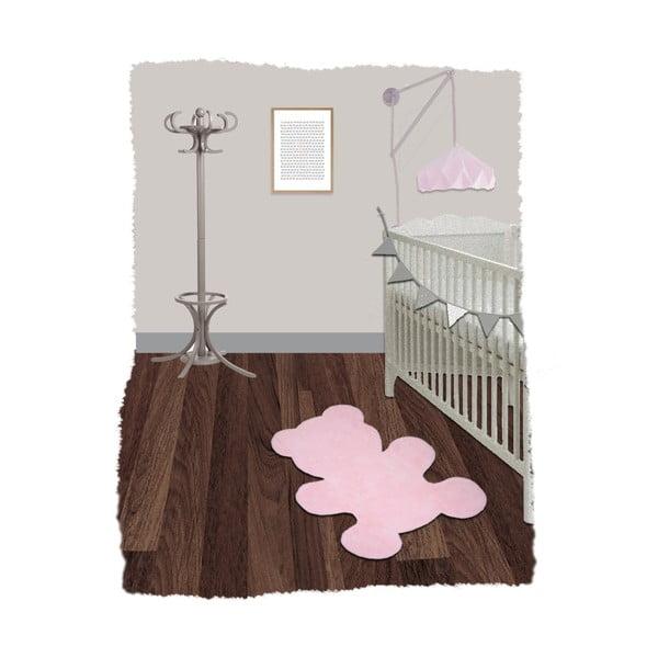 Little Teddy rózsaszín kézzel készített gyerekszőnyeg, 80 x 100 cm - Nattiot