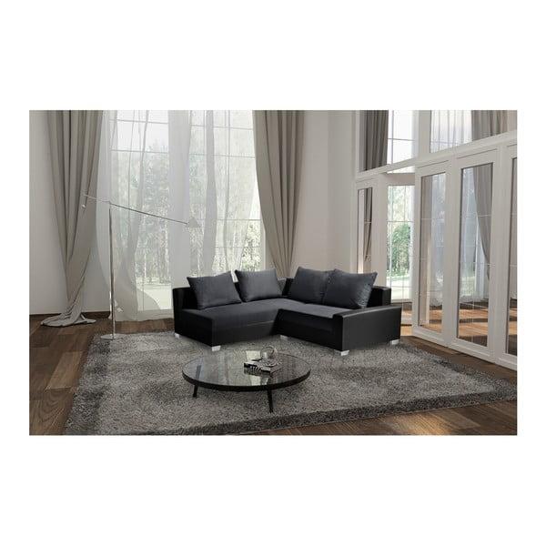 Aventure fekete-antracit kanapé, bal oldalas - Interieur De Famille Paris
