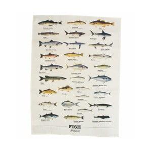 Multi Fish pamut törlőkendő - Gift Republic