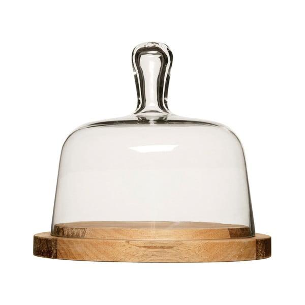 Oval sajt vágódeszka üvegfedéllel - Sagaform