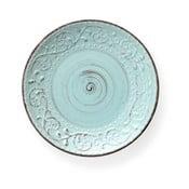 Serendipity türkizkék agyagkerámia étkezőtányér, ⌀ 27,5 cm - Brandani