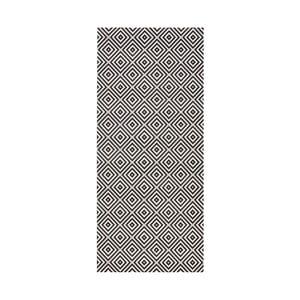 Karo fekete kültéri szőnyeg, 80 x 150 cm - Bougari