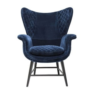 Velvet kék fotel - Kare Design