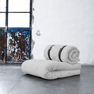 Buckle Up Light Grey állítható fotel fehér szegélyű bőr szíjakkal - Karup