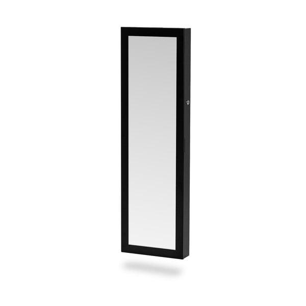 Bien fekete fali ékszertartó állvány, tükörrel - Chez Ro