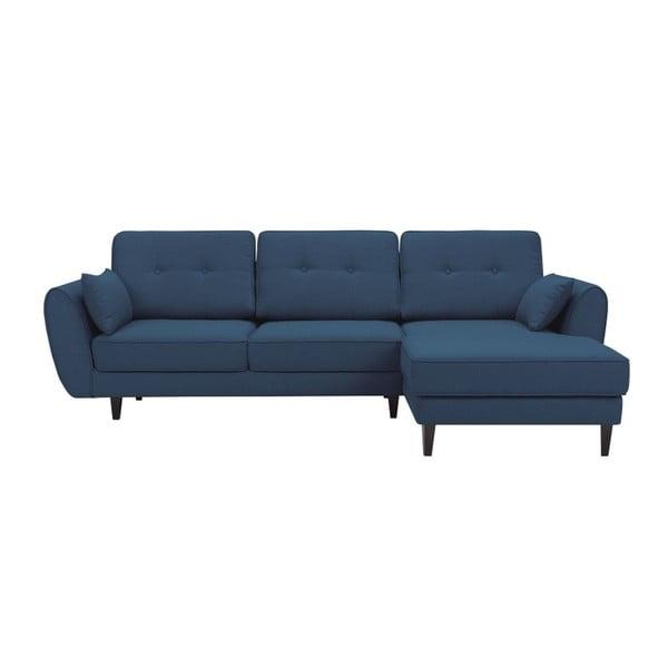 Laila kék háromszemélyes kanapé, jobb oldali - HARPER MAISON