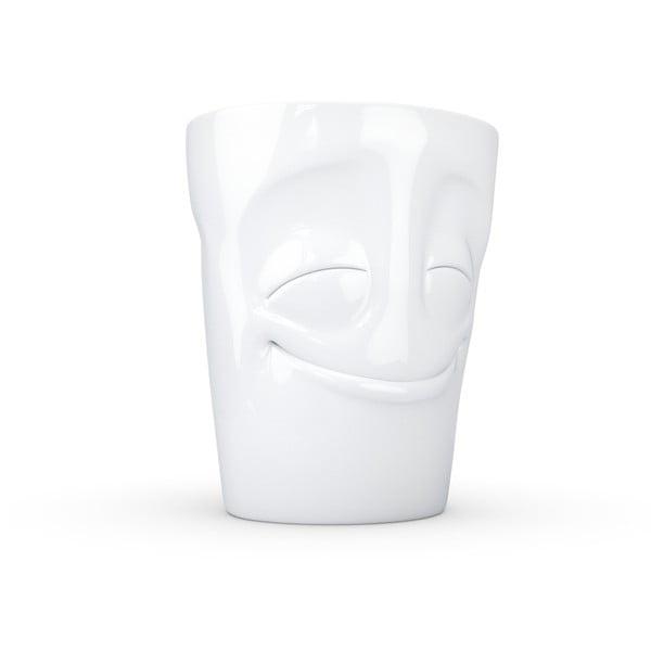 'Elégedett' fehér porcelánbögre, 350 ml - 58products