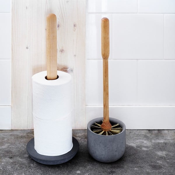 Sötétszürke WC-papír tartó állvány - Iris Hantverk