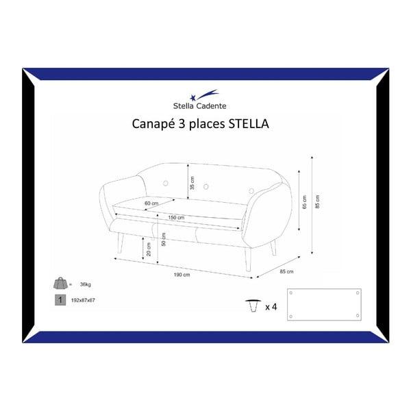 Krémszínű háromszemélyes kanapé - Scandi by Stella Cadente Maison