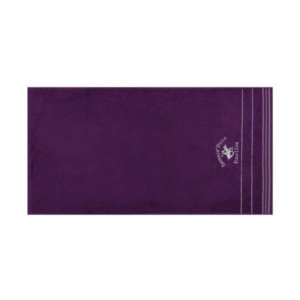 Polo Club lila kéztörlő szett, 2 db
