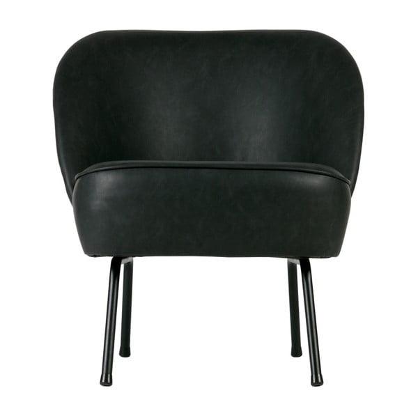 Vogue fekete fotel újrahasznosított bőrből - BePureHome