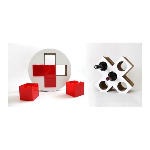 Piros gyógyszertároló és bortartó állvány - Unlimited Design for kids