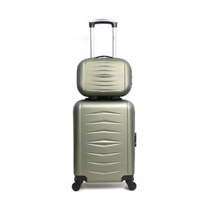 Oviedo 2 db-os zöld gurulós bőrönd szett - Infinitif