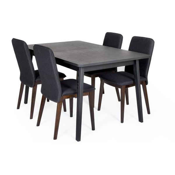 Skagen Extending Table fekete bővíthető étkezőasztal - Woodman