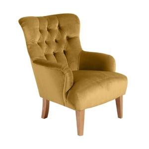 Brandon Suede sárga fotel - Max Winzer
