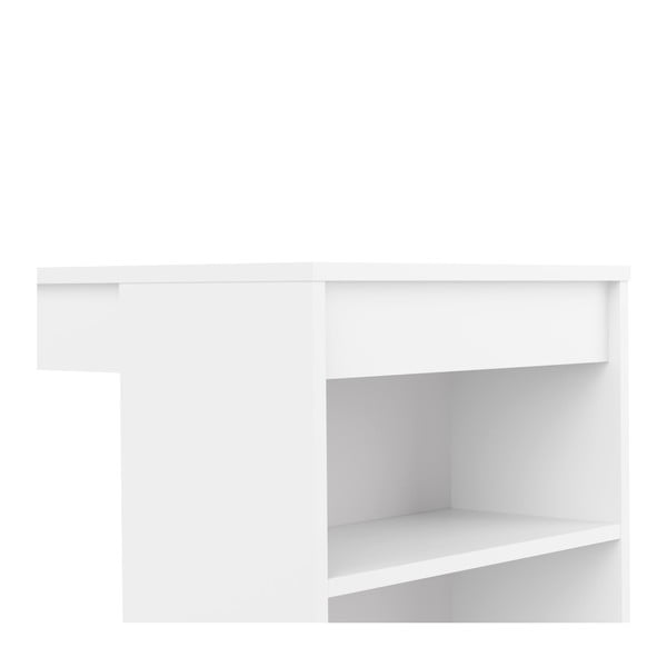 Aravis fehér bárasztal, fehér asztallappal - Symbiosis