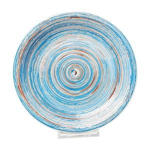 Swirl kék agyagkerámia tányér, ⌀ 27 cm - Kare Design