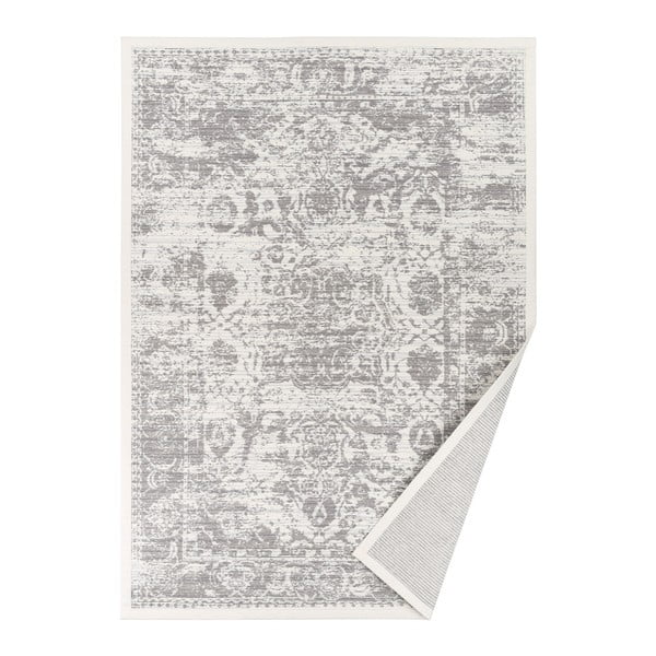 Narma Palmse fehér mintás kétoldalas szőnyeg, 70 x 140 cm - Woodman