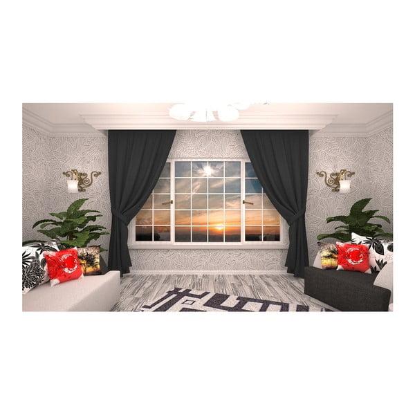 Rosario fekete függöny, 140 x 270 cm