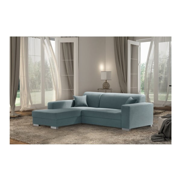 Bijou mentolkék kanapé, bal oldal - Interieur De Famille Paris