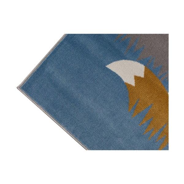 Grey róka mintás szürke szőnyeg, 133 x 190 cm - KICOTI
