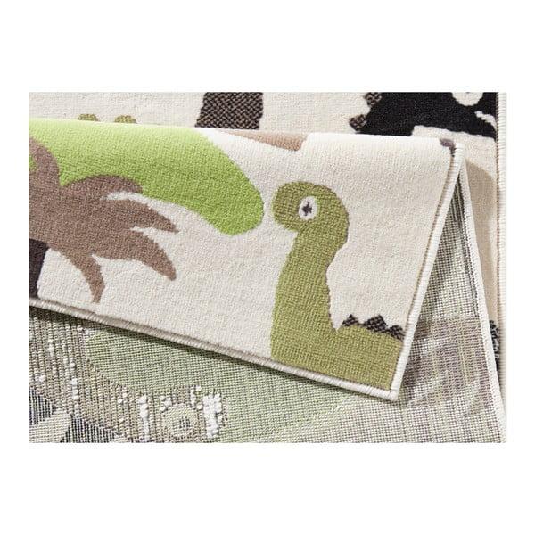 Dino zöld-barna gyerekszőnyeg, 140 x 200 cm - Zala Living
